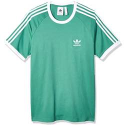 camiseta vintage adidas stripes rayas colores fucsia, turquesa rojo verde, original 1973 retro manga corta verano