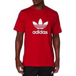 adidas Trefoil T-Shirt - Camiseta de Manga Corta Hombre vintage retro clásica algodón negra logo blanco roja logo vintage logo retro antiguo original