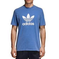 adidas Trefoil T-Shirt - Camiseta de Manga Corta Hombre vintage retro clásica algodón negra logo blanco roja logo vintage logo retro antiguo original lila morADO amarillo marino azul blue