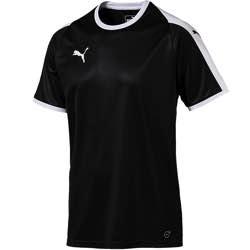 PUMA Liga Jersey - Camiseta Hombre negra logo blanco vintage clásica logo retro