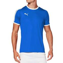 PUMA Liga Jersey - Camiseta Hombre negra logo blanco vintage clásica logo retro amarillo negro azul blanco