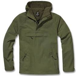 Brandit Windbreaker Chaqueta para Hombre Vintage retro clásica - Antracita camuflaje verde oliva
