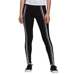 adidas Tights Mallas, Mujer logo adidas vintage retro blanco negro clásico