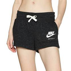 NIKE W NSW Gym VNTG Pantalones Cortos, Mujer LOGO VINTAGE NIKE LOG CL�SICO ANTIGUO JUST DO IT