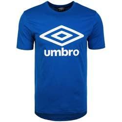 Umbro Fw Large Logo Cotton tee Camiseta para Hombre retro logo vintage clásico umbre azul naranja rojo logo impreso blanco