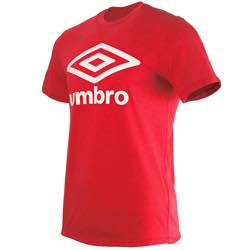 Umbro Fw Large Logo Cotton tee Camiseta para Hombre retro logo vintage clásico umbre azul naranja rojo logo impreso blanco colores disponibles gris marron negro blanco