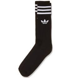 Adidas calcetin retro vintage negro rayas blanco