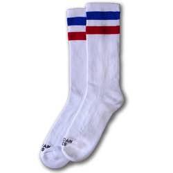 American Socks Mid High Calcetines Americanos altura media vintage colores blanco rojo azul amarillo lila rosa