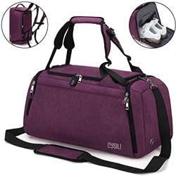 Cysili - Bolsa de viaje con bolsa de deporte y mochila, equipaje de mano con compartimento para zapatos, compartimento para ropa húmeda y candado de combinación, bolsa de deporte para hombres y mujeres, bolsa para deporte, fitness, gimnasio de 42 l, bolsa de viaje y bolsa de deporte
