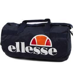 Sports bag ellese pelba barrell retro vintage grey navy blue big square