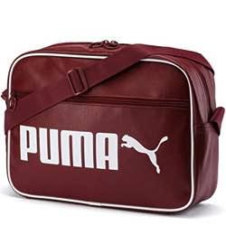 Bandolera puma vintage retro burdeos granate antigua clasica bolsa deporte gimnasio zapatos