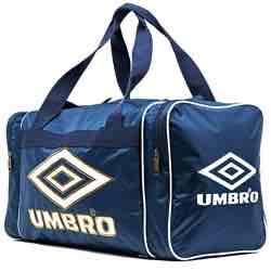 UMBRO Retro Small Holdall BOLSA DEPORTE GIMNASIO CL�SICA UMBRO RETRO azul logo