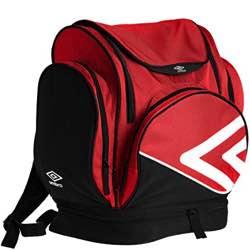 Umbro Pro Training Mochila Tipo Casual, 45 cm, 35 Litros, Red/White/Black
