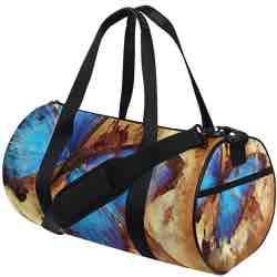 jstel Vintage mariposa bolsa de deporte gimnasio para hombres y mujeres bolsa de viaje de viaje