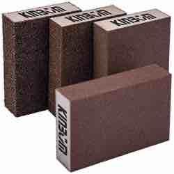 KINBOM - 4 esponjas de lijado en seco y húmedo (4 bloques) lifa fina lija gruesa manualidades madear
