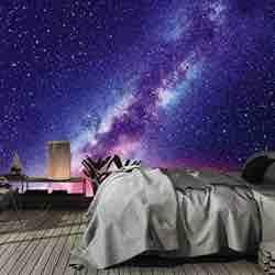 murimage Papel Pintado Universo amazon barato 3D 366 x 254 cm Incluye Pegamento Fotomurales Galaxia Space Star Cosmos cielo nocturno vintage retro pop