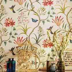 American Country - Rollo de papel pintado autoadhesivo carrefour ikea 2020 con diseño rústico de mariposas, pájaros y flores, no tejido, ideal para decorar el dormitorio o la sala de estar (45 x 300 cm)