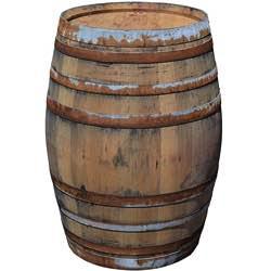 Temesso Barril Mesa en Madera de Roble con 225 litros, rústico (sin fijación de Anillos) barril vino barrica mesa rústica retro mesa vintage