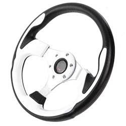 Volante universal, EBTOOLS 13in 320mm Universal PU Leather Car Sport Racing Drift Volante blanco