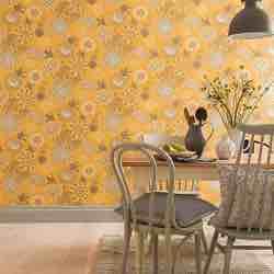 Arthouse 676206 - Papel pintado para pared, diseño de flores, color amarillo, talla única rollo 10metros papel pared vintage pintado decorado adhesivo flores amarillo