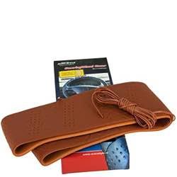 Funda para volante, diseño clásico (cuerda, punta), color marrón