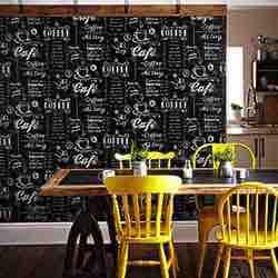 Taza de café negro/blanco papel pintado para pared cafetería café bar restaurante comida vintage blanco negro papel vintage retro