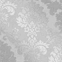 Fine Décor FD41965 Cuarzo Damasco Papel Pintado, Color Plateado, 52 cm x 10.05 m rustico vintage clásico victoriano papel de pared vinilo pintado papel amazon