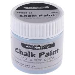 MP - Pintura Acrílica Artix Paints, Pintura Efecto Tiza, Color Azul Heraldico colores disponibles para mueble retro