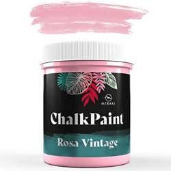 CHALK PAINT Pintura efecto tiza al agua mate (500ML, VERDE OLIVA) rosa vintage retro