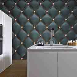 murimage Papel Pintado Cuero Negro 274 x 254 cm Incluye Pegamento Fotomurales imitación de piel lujo óptica 3D diamantes brillo acolchado dormitorio vintage retro rústico barato amazon