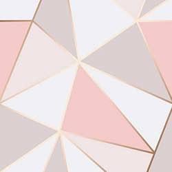Papel pintado Apex con patrón geométrico de Fine Decor, color dorado rojizo, FD41993 símetrico rosa blanco dorado vintage bonito barato