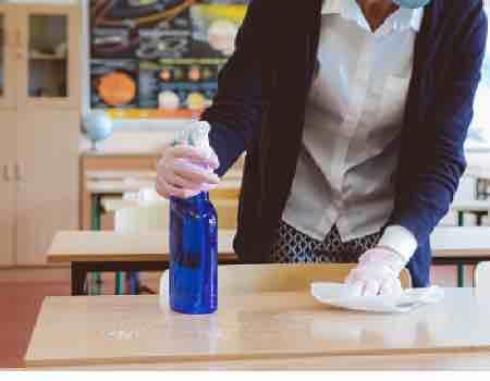 acondicionamiento de mesa para pintar a la tiza efecto vintage