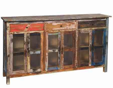 aparador armario mueble vintage a la tiza