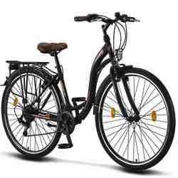 Bicicleta vintage urbana mujer cambio shimano