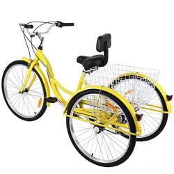 Muguang triciclo retro vintage paseo amarillo