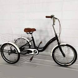 MINUS ONE Triciclo para Adultos Adultos Triciclo Bicicleta con 3 Ruedas Senior Wheel Cargo Bicicleta 20